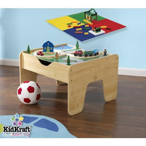 KidKraft Lego Compatible 2 in 1 Activity Table [Natural] only $40 $39.97