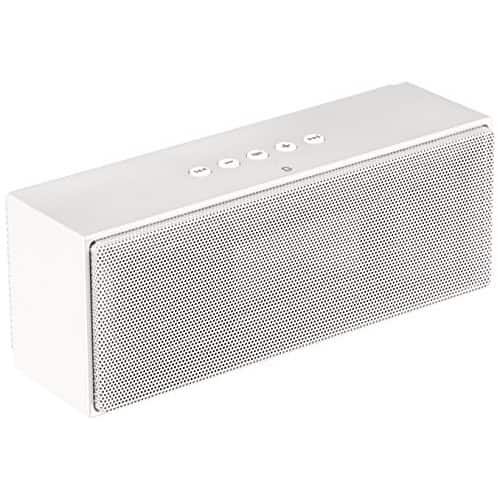 AmazonBasics Wireless Bluetooth Dual 3W Speaker with Built-in Microphone - White [White, Speaker] $15.99