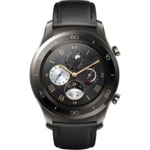 Huawei Watch 2 Classic – Titanium Grey with Black Hybrid Strap - Android Wear 2.0 (US Warranty) $219.99