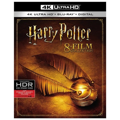 Harry Potter 8-film Collection 4k UHD Blu-Ray $129.88