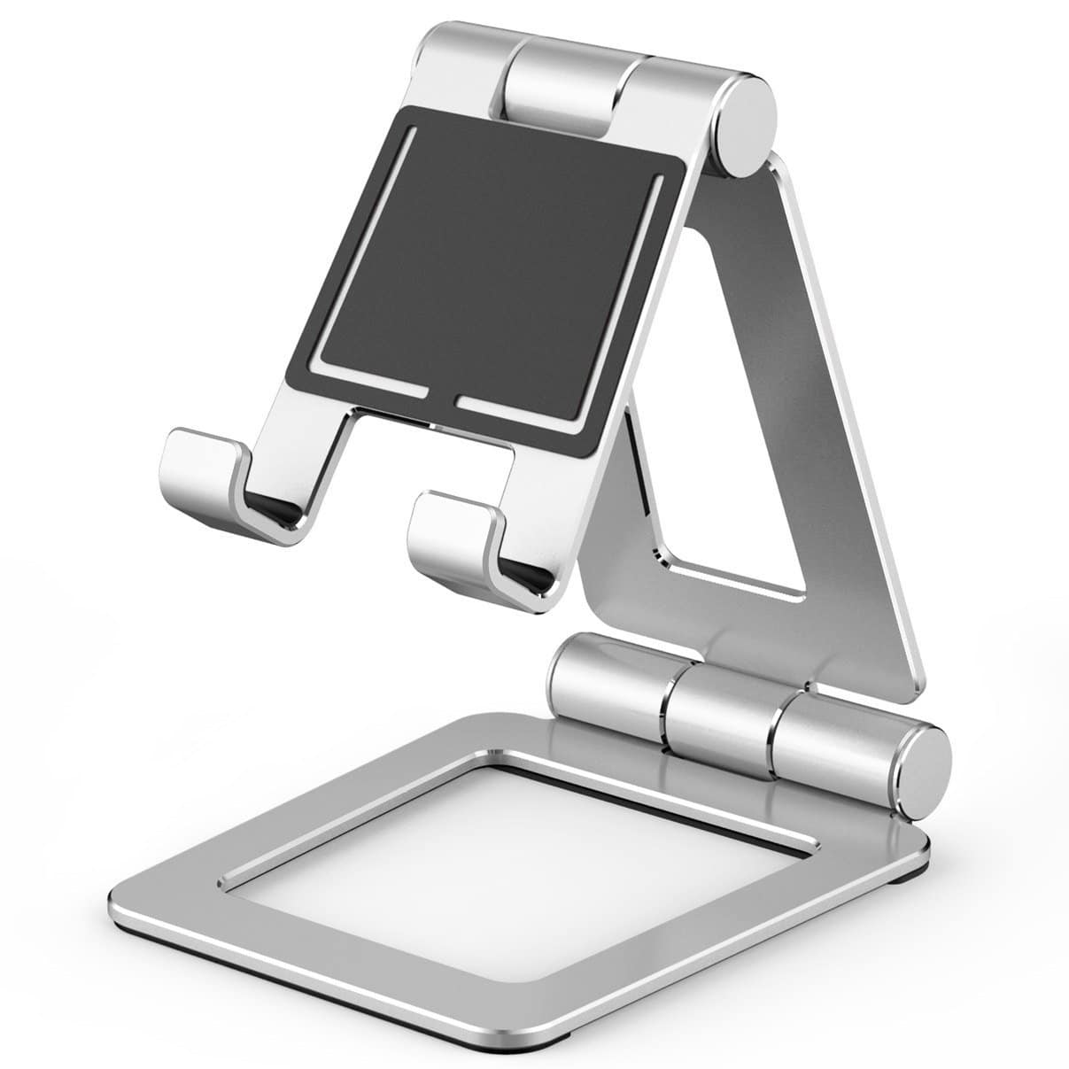 Cell Phone Stand, Adjustable Tablet Stand, Universal Dual Foldable iPhone Stand Multi Angle phone Holder for Switch, iPad,Samsung, Nexus, iPhone X, Other Tablets Silver $10.99