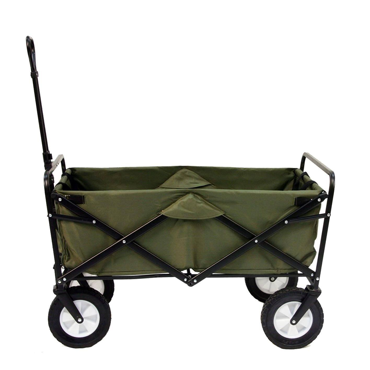Mac Sports Collapsible Folding Outdoor Utility Wagon, Green $49.99