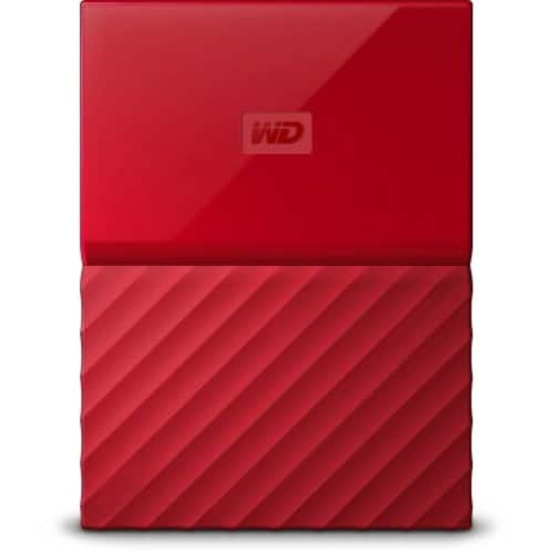 WD 4TB Red My Passport Portable External Hard Drive - USB 3.0 - Model WDBYFT0040BRD-WESN $65.48