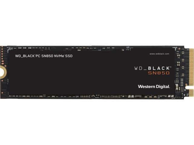 Western Digital WD BLACK SN850 NVMe M.2 2280 2TB PCI-Express 4.0 x4 3D NAND Internal Solid State Drive (SSD) WDS200T1X0E (After coupon EMCETTH25) $315