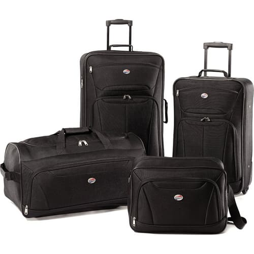 American Tourister Fieldbrook XLT Four-Pice Luggage Set 9Black) 92288-1041 for 59.99 at BuyDig.com Free Shipping $59.99