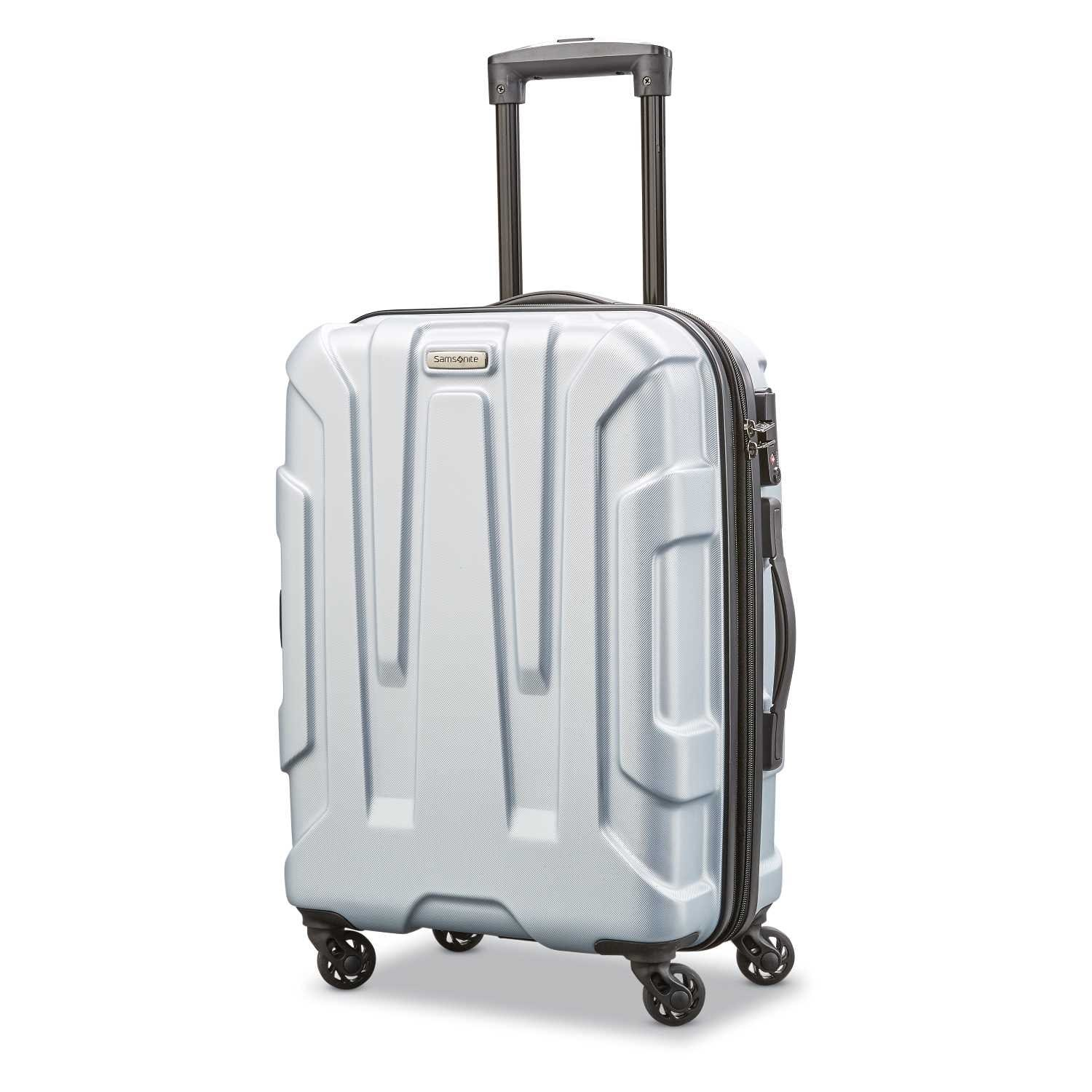 Samsonite Centric Expandable Hardside Carry On Luggage with Spinner Wheels, 20 Inch, Silver $63.99