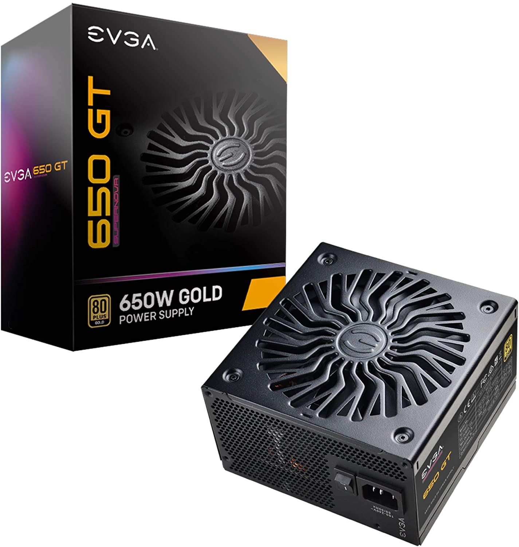 650W EVGA Supernova 650 GT 80 Plus Gold Fully Modular Power Supply $69.99 AR