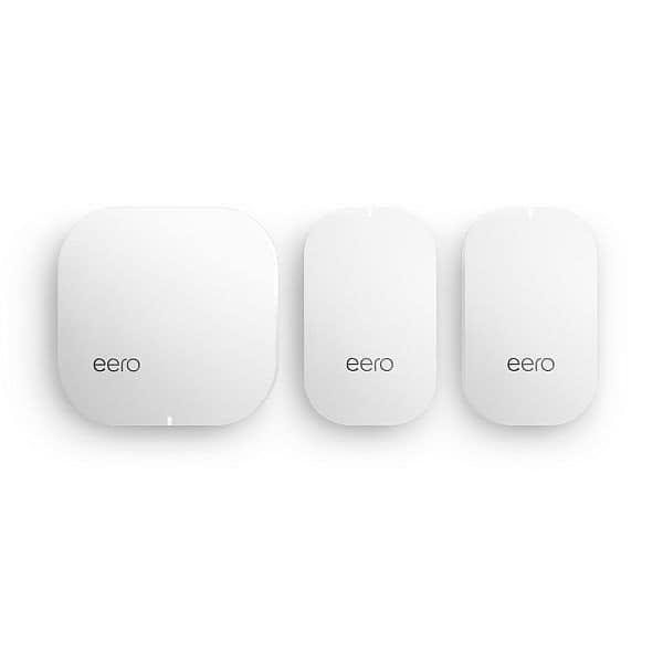 eero Home WiFi System (1 eero + 2 eero Beacons) - TrueMesh Network Technology, Gigabit Speed, WPA2 Encryption, Replaces Wireless Router, Works with Alexa (2nd Gen.) $299