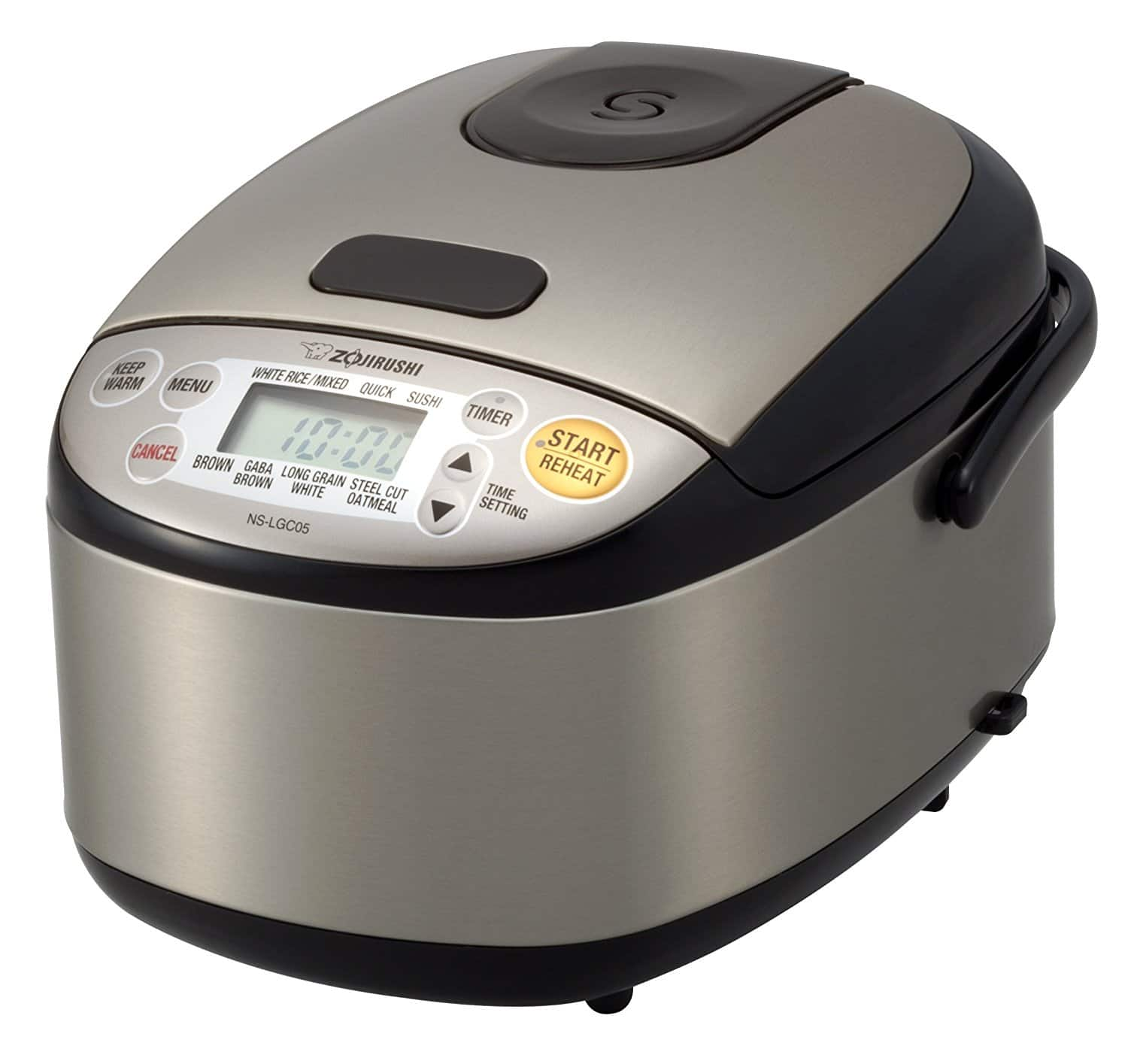Zojirushi NS-LGC05XB Micom Rice Cooker & Warmer, Stainless Black for $99