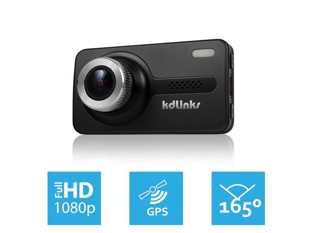 KDLINKS® X1 Full-HD 1920*1080 165° Wide Angle Car Dashboard Camcorder GPS, G-Sensor, WDR Superior Quality Night Mode, 6-Glass Lens, 2.7 $139.95