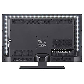Save upto 58% Off - TV LED Light Strip Daylight White  USB Plug DC 5V 6.6ft Bias Lighting 6000k Switch Button Control Backlight Kit for Monitor Cabinet Sideboard Wardrobe $5.87