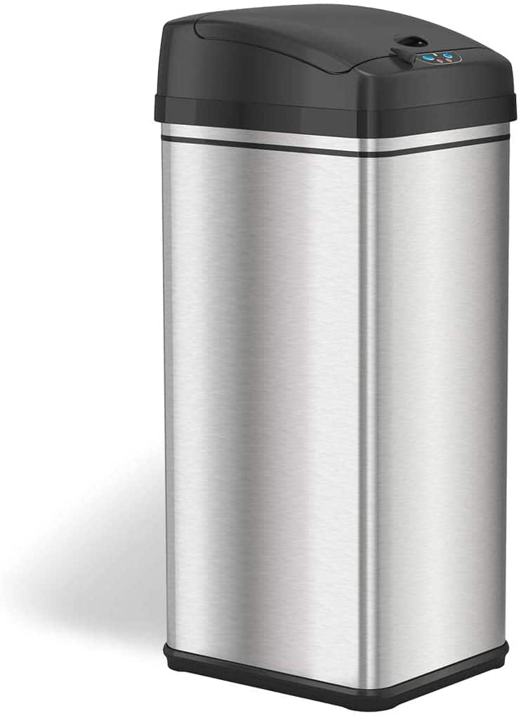 Amazon.com: iTouchless 13 Gallon Stainless Steel Automatic Trash Can $59.98