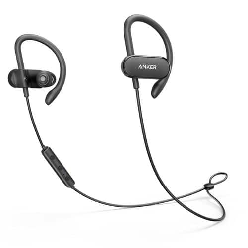 Anker SoundBuds Curve Wireless Earbuds, Bluetooth 4.1 Sports Earphones w/ Ear Hook and Waterproof Nano Coating, 12.5 Hour Battery, CVC Noise Cancellation $32.99 @ amazon.com
