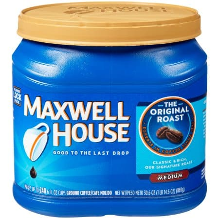 Maxwell House Original Medium Roast Ground Coffee, 30.6 oz (867 g) $6.93