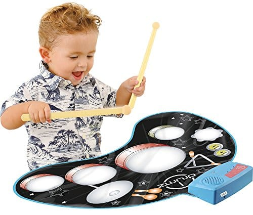 Click N Play Kids Electronic Touch Sensitive Play Mat Drum Set With