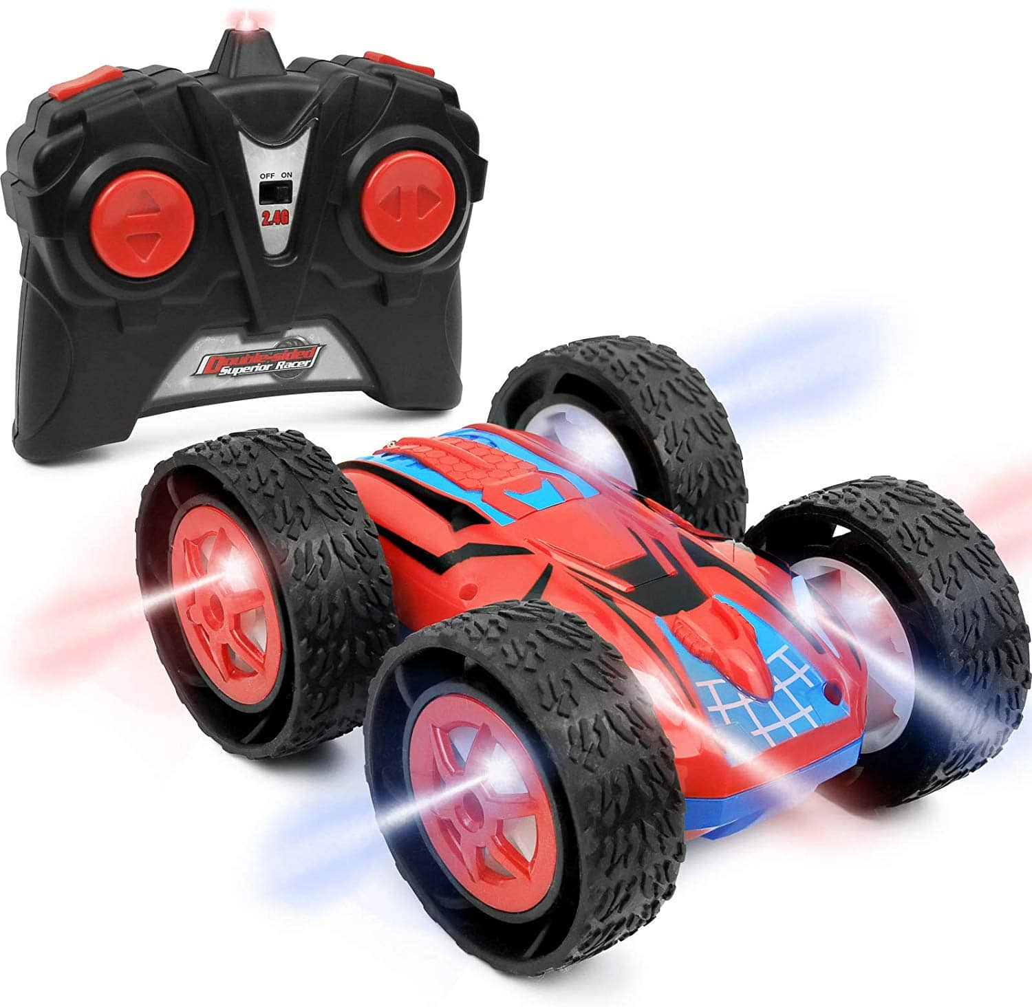 Remote Control Rc Double Sided Superior Stunt Race Car Flashing