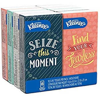 [YMMV] Prime members - Kleenex Travel packs 10cnt 8qty + No Rush credit $2.28