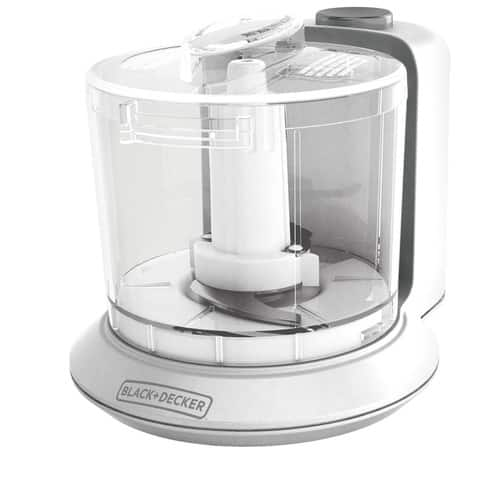 BLACK+DECKER 1.5-Cup Electric Food Chopper, White, HC306C [White, 1.5 Cup Capacity] $9.22