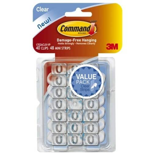 Command Decorating Clips, Clear, 40-Clips (17026CLR-40ES) $5.93