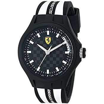Ferrari Men's 0830191 Pit Crew Analog Display Quartz White Watch For $47.80 @ Amazon