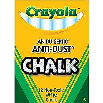 Crayola Nontoxic Anti-Dust Chalk, White, 12 Sticks/Box (50-1402) For $0.68 @ Amazon