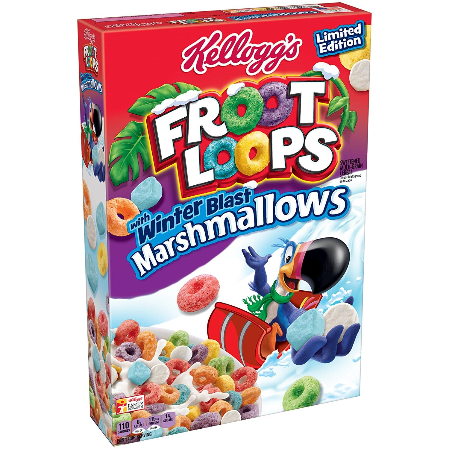 Prime Pantry: Kellogg's Froot Loops Cereal, Marshmallow, 12.6 Ounce $0.99