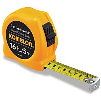 Komelon 4930IM The Professional 30-Foot Inch/Metric Scale Power Tape, Yellow For $6.00