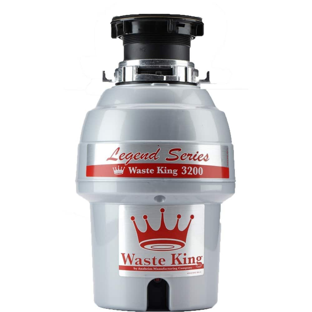 Waste King Legend Series 3/4 HP Continuous Feed Garbage Disposal with Power Cord - (L-3200)  $95.00