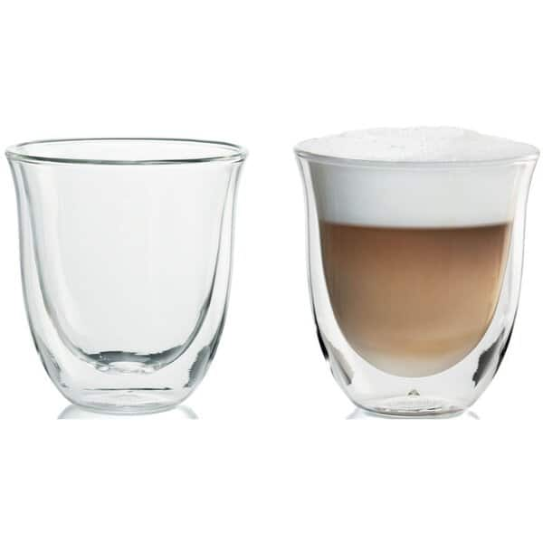 DeLonghi Double Walled Cappuccino Glasses, 6 fl oz, Set of 2 (Lowest ever at Amazon) $9.64