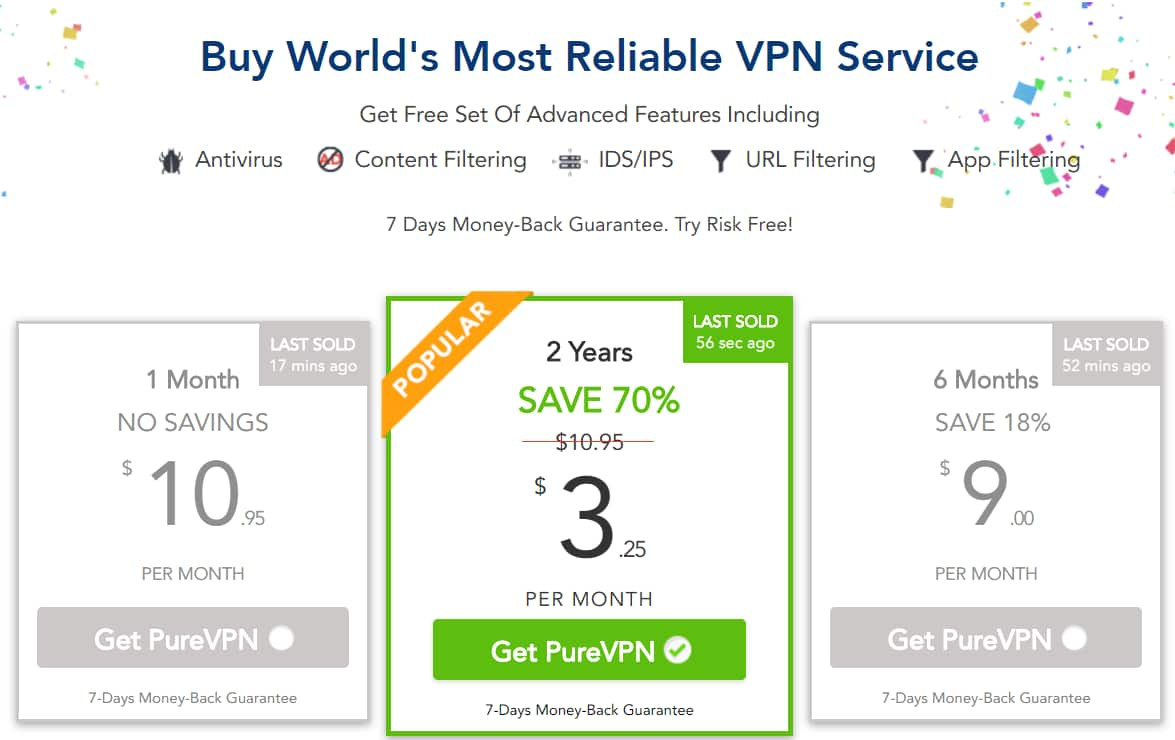 PureVPN buy 1 year and get 2nd year for FREE