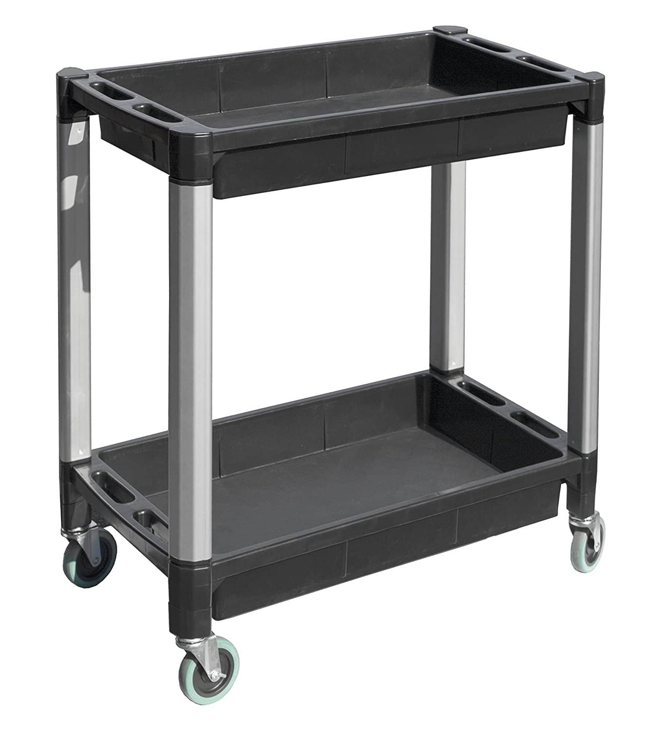 Maxworks black and gray two tray service/utility cart $49.99