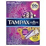 16-Count Tampax Radiant Plastic Unscented Tampons  $1.80 + Free Shipping
