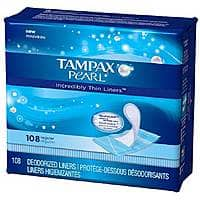 Drugstore.com Deal: 54-Count Tampax Pearl Incredibly Thin Liners Regular Free + Free Shipping w/ Shoprunner