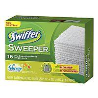Drugstore.com Deal: 16-Count Swiffer Sweeper Dry Sweeping Cloths with Febreze (Sweet Citrus & Zest or Lavender Vanilla & Comfort) $1.34 + Free Shipping w/ Shoprunner