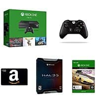1TB Xbox One Console w/ 5 Games + 2x Wireless Controllers + $50 Amazon GC