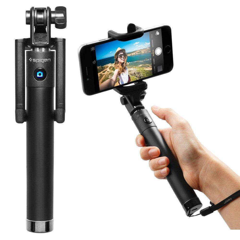 Selfie Stick, Spigen® [New Generation] Bluetooth Selfie Stick with Remote Shutter: fits big phone iphone 6 plus etc: Amazon $4.99