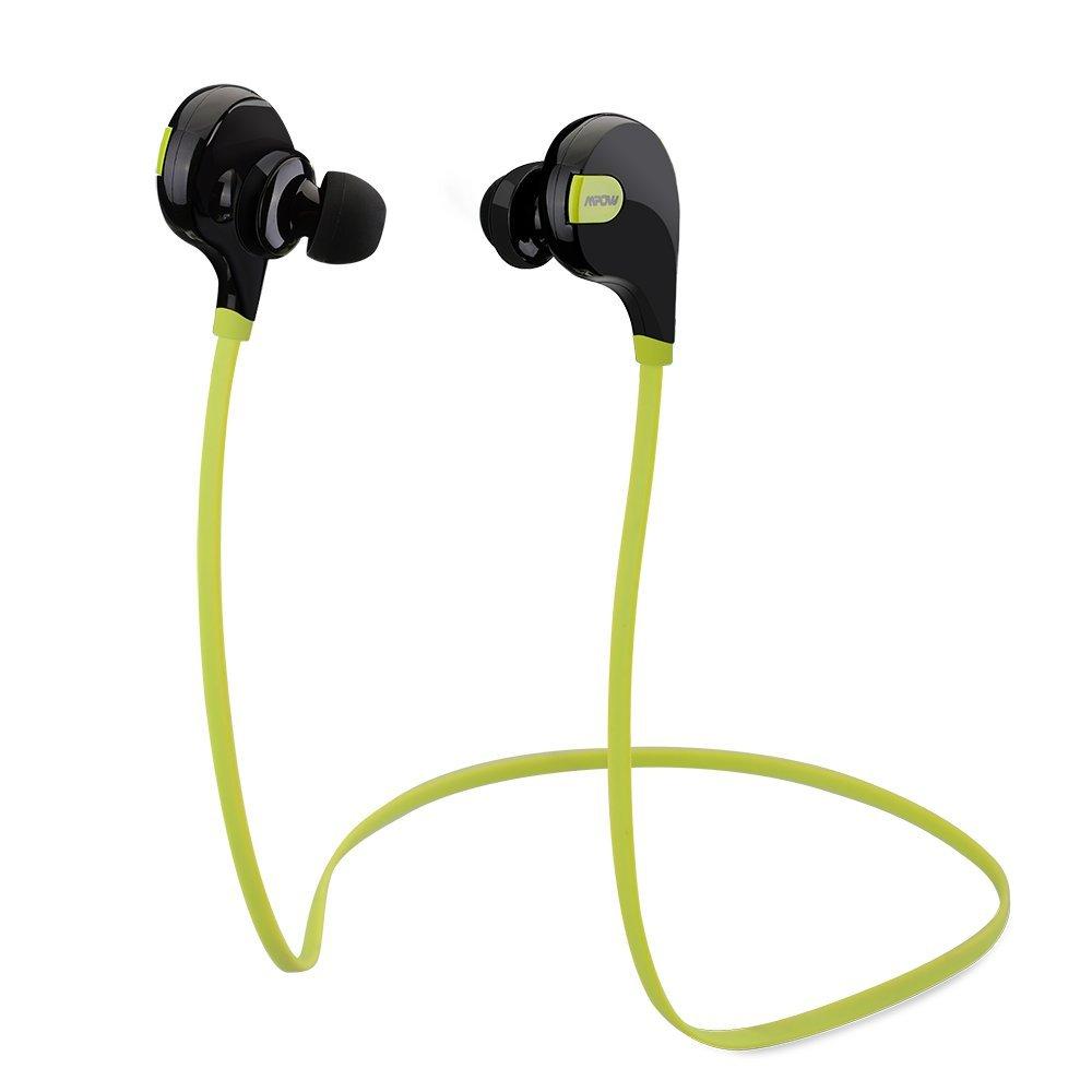 Mpow Swift Bluetooth 4.0 Wireless Sport Headphones  $10