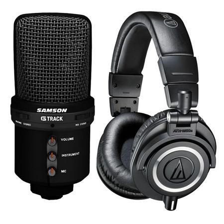 Samson G-Track USB Microphone $70 or w/ ATH-M50x Headphones  $169 + Free Shipping