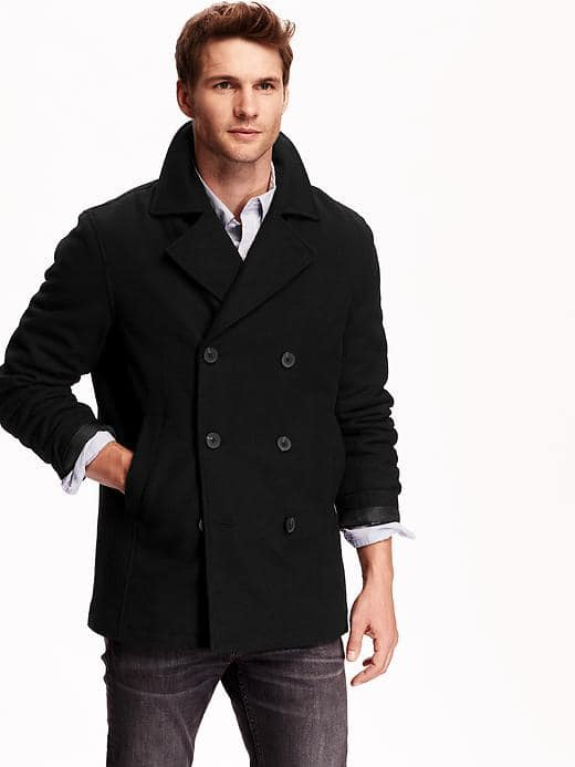 Men's or Women's Wool Blend Peacoats (Various Colors)  $17.50 + Free Shipping
