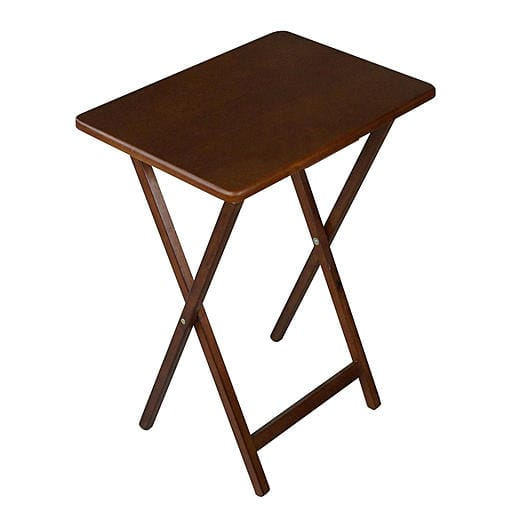 Folding Wooden TV Tray Table (Walnut or Black)  $7.45 + Free Store Pickup