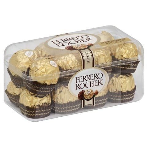 Target - In Store: Ferrero Rocher 16 pc Gift Box 7 oz: $3.49 Sale price minus $2 coupon = $1.49 and other online sale prices