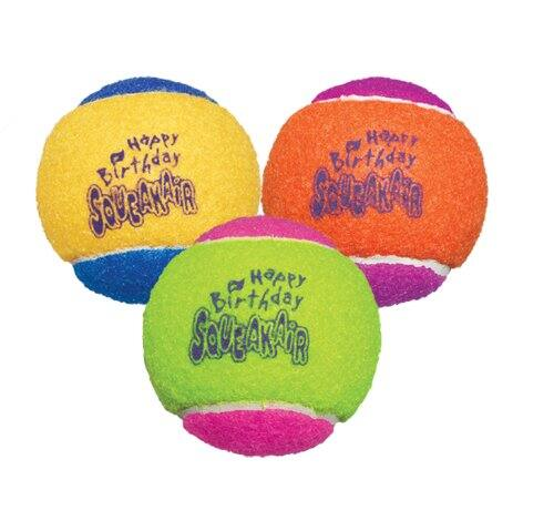 3-Pack Kong Air Dog Squeakair Birthday Balls Dog Toy (Medium)  $2.40