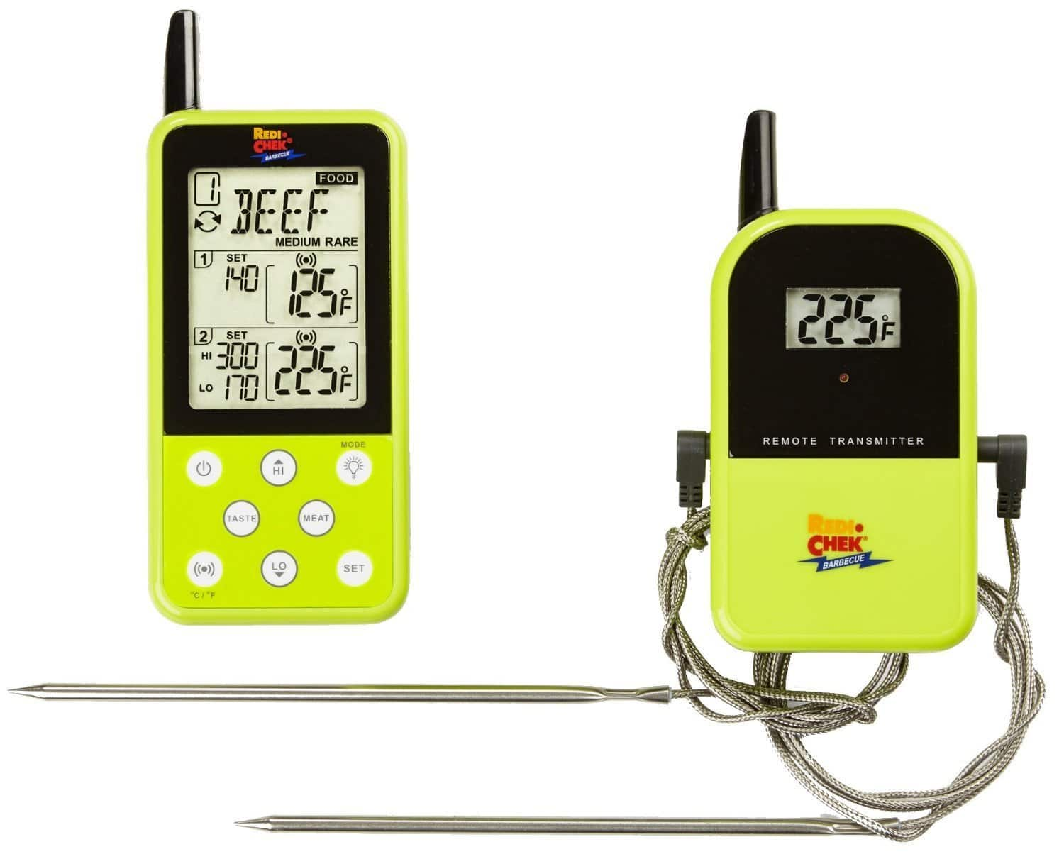 Maverick Industries Long Range Wireless Dual Probe Barbecue Smoker Meat Thermometer Set - Green Version with a Larger Display $34.99 ac / fs @ amazon