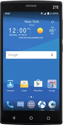 "ZTE Zmax 2 5.5"" AT&T Go phone $100 at Best Buy F/S"