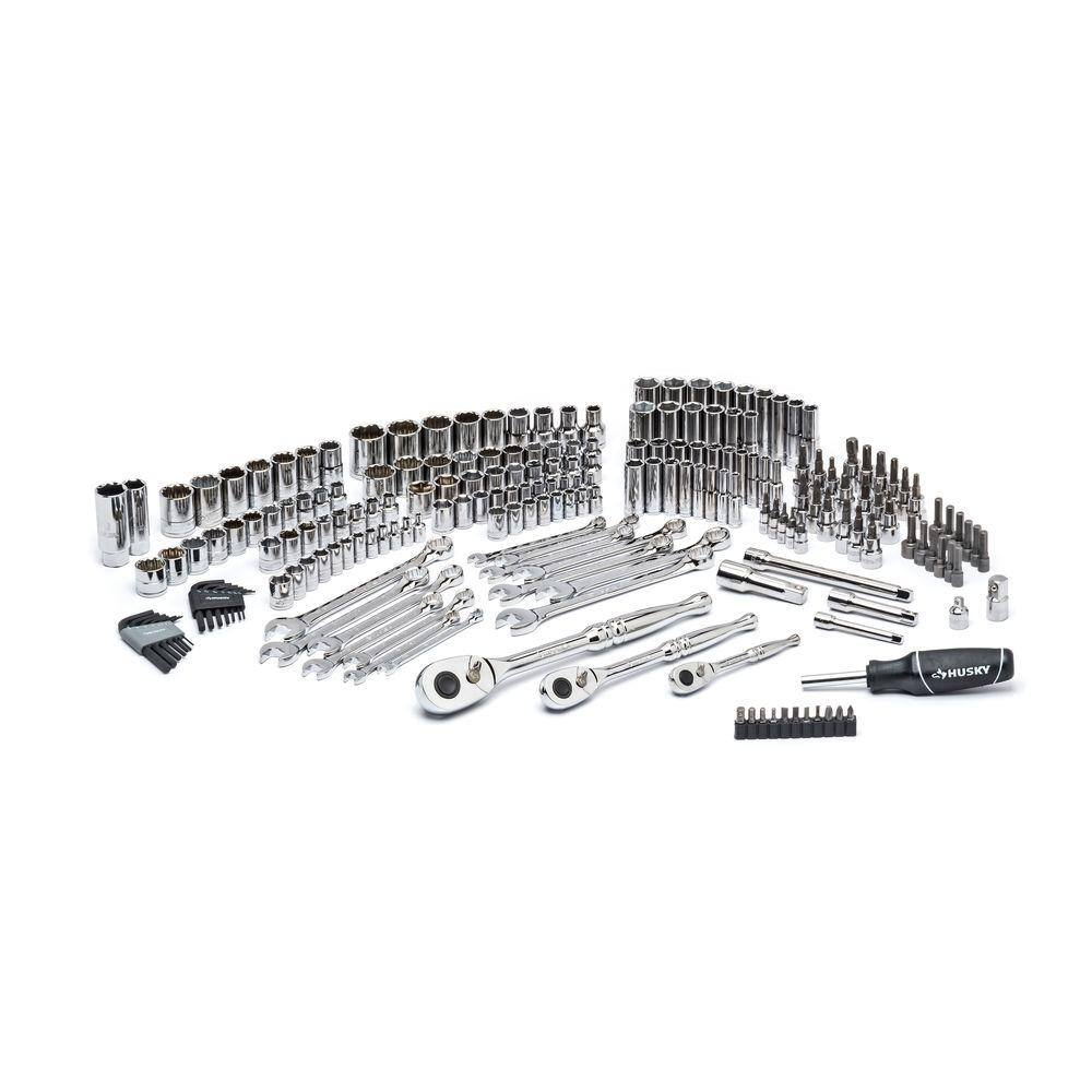 Husky 205-piece Mechanics Tool Set  - Lifetime warranty - at Home Depot with free shipping - $56