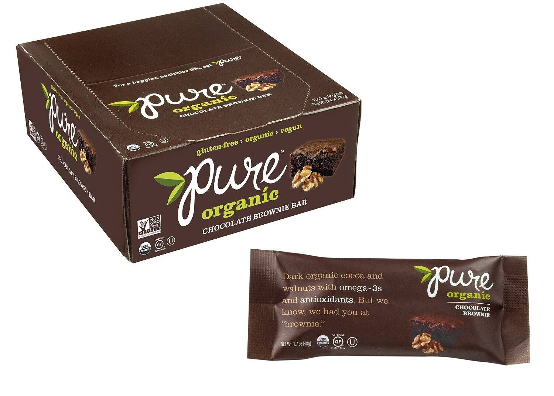 12-Pk 1.7oz Pure Organic Chocolate Brownie Fruit & Nut Bar - $9.14 or $7.65 w/5 subs - Free Ship Amazon S&S
