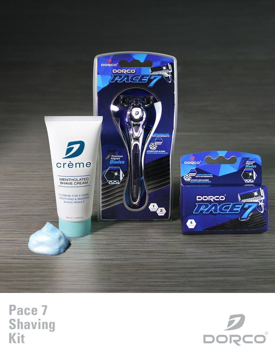 Dorco Pace 7 Shaving Kit (Handle, 6 Cartridges, Shaving Cream)  $11.75 + Free Shipping