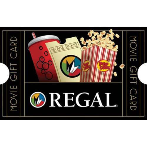 Gift Card Sale (Email Delivery): $50 Regal Gift Card + $10 Bonus Code  $50 & More