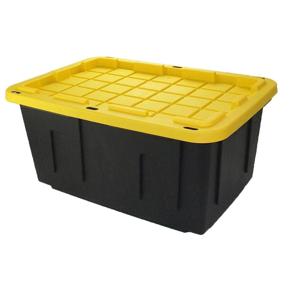 27-Gallon HDX Storage Tote (black) for $6.97 at Home Depot *Today Only*