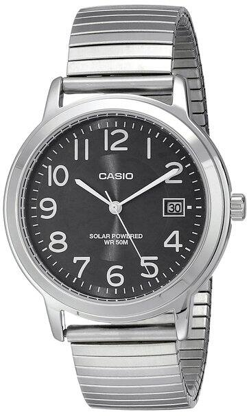 Casio Men's or Women's Solar Powered Stainless Steel Watch  $20